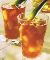 ponche de te y pina - INFUSIONES: 50 fichas de recetas