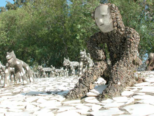 rock garden 1 - Un bello jardín a partir de desechos