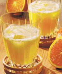 te helado de naranja con tonica
