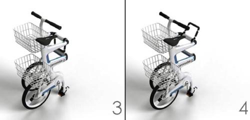 ville 4 - VILLE: la bicicleta que se convierte en carrito para la compra