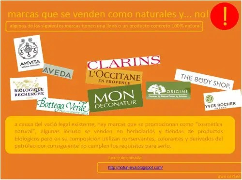 cosmetica5 - HIGIENE SANA Y NATURAL: presentación sobre el contenido tóxico de los cosméticos y productos de higiene, marcas certificadas y alternativas