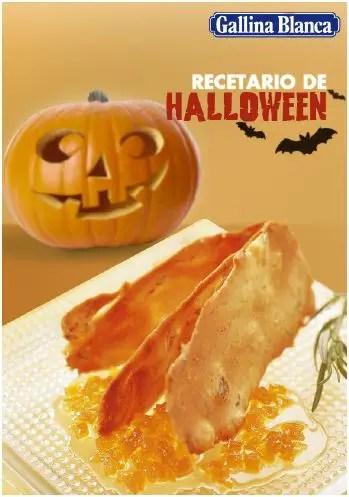 recetario Halloween gallina blanca