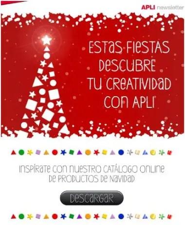 apli - Decorar y felicitar la Navidad con pegatinas y productos Apli