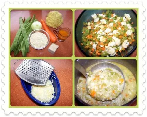 Sopa Collage - Receta de sopa Minestrone vegetariana con quinoa