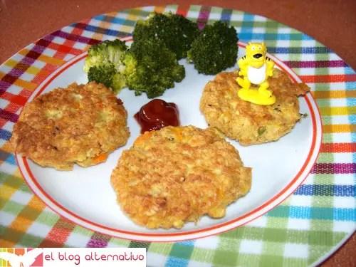 hamburguesa - Receta de hamburguesas de avena, tofu y verduritas
