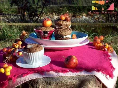 madalenas - Receta de magdalenas de chocolate rellenas de mascarpone