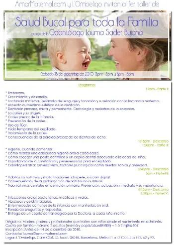 saludbucal tallerb - SALUD BUCAL para toda la familia. Entrevistamos a la odontóloga Louma Sader Bujana