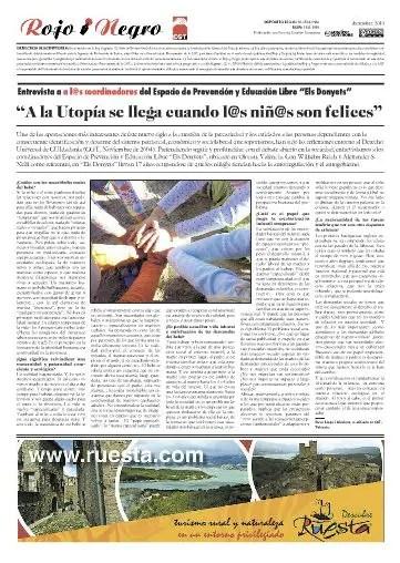 """rojo y negro - """"A la UTOPÍA se llega cuando l@s niñ@s son felices"""": entrevista a la escuela libre Donyets en Valencia"""