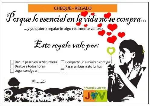 Cheque Regalo Chica SAN VALENTIN2 - Regalos no materiales y de comercio justo para San Valentín