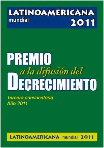decrecimiento - Premio a la difusión de los principios del decrecimiento