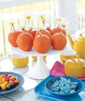 centro de mesa de naranjas