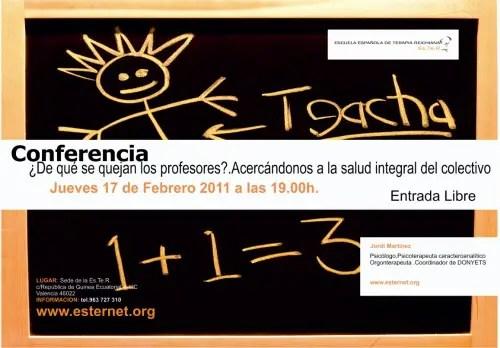 quejas de los profesores