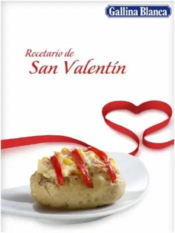 recetario san valentin gallina blanca - Recetario de San Valentín en pdf