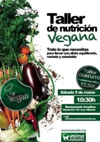 taller nutricion vegana - Taller gratuito de nutrición vegana en Barcelona