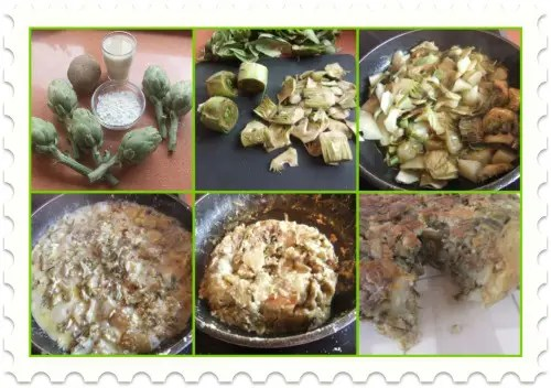 Collage de Picnik - tortilla alcachofas sin huevo