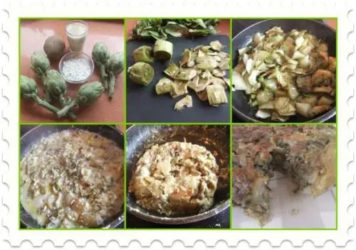 tortilla alcachofas sin huevo