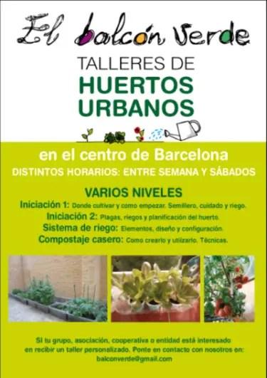 El Balcón Verde - Talleres Huerto Urbano