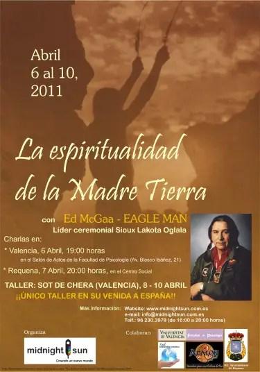 cartel eagle man A31 - Ed McGaa - Eagle Man, líder ceremonial Sioux Lakota en Valencia: la espiritualidad de la Madre Tierra