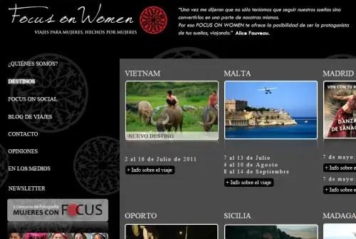 Focus on Women - FOCUS ON WOMEN: Viajes para Mujeres, hechos por Mujeres. Entrevistamos a sus creadoras