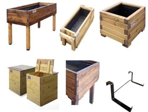 huerto de madera reciclada