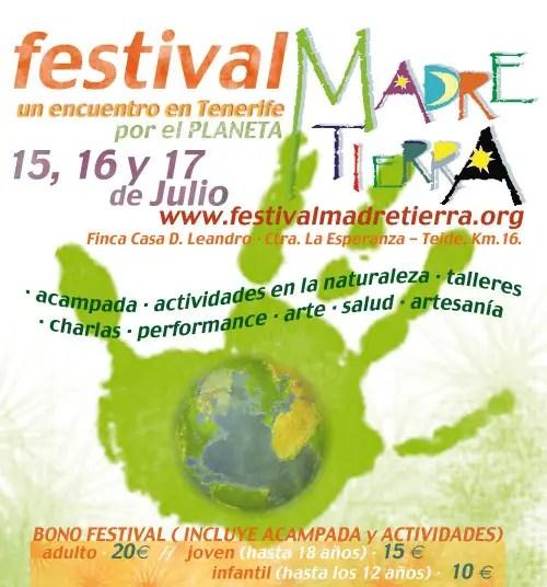 cartel festival madre tierra 2011b - Festival Madre Tierra en Tenerife, julio 2011