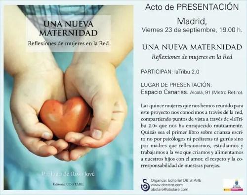 una nueva maternidad - Presentación del libro Una Nueva Maternidad en Madrid