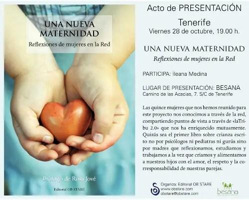 Una Nueva Maternidad presentación tenerife