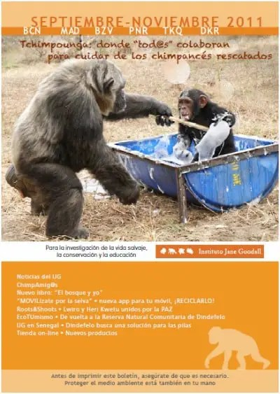 boletin jane goodall - Boletín del Instituto Jane Goodall en pdf: otoño 2011