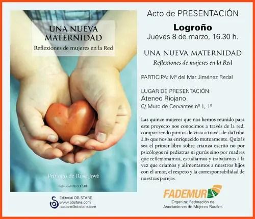 presentación en Logroño de Una Nueva Maternidad