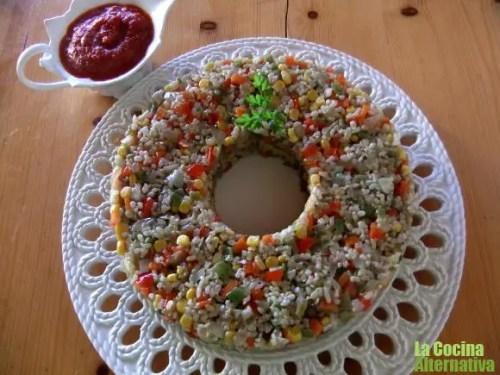 corona - corona de arroz con verduritas al wok