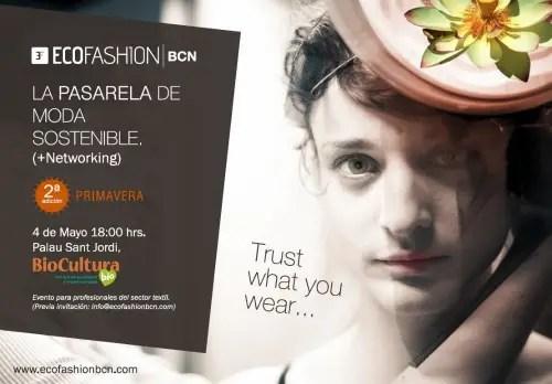 ecofashion - ECOFASHION BCN: la pasarela de moda sostenible  en Barcelona, 4 de mayo 2012