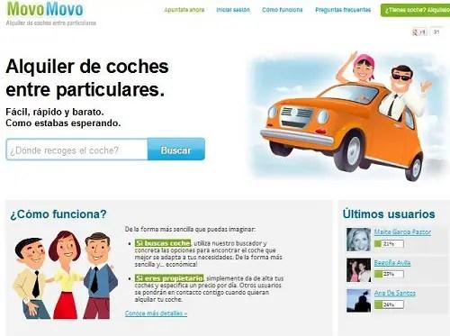 MovoMovo alquiler de coches entre particulares
