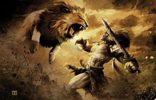 hercules against the lion - hercules-against-the-lion