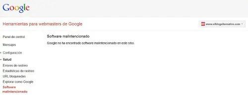 Captura Herramientas Webmaster Google