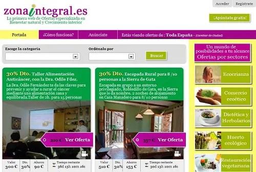 zona integral - ZONAINTEGRAL.es - Web de Ofertas especializada en Bienestar natural y Crecimiento interior
