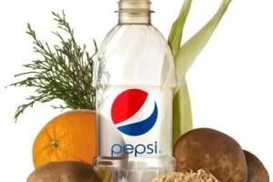 Botella Pepsi orgánica - ¿Llegan las botellas de refrescos hechas con material orgánico?