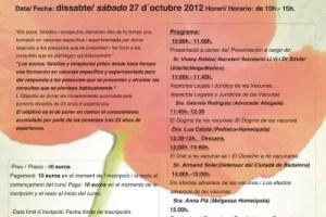 Cartell LL 2012b1 - El derecho a no vacunarte: jornadas de formación en Barcelona