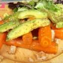 aguacate zanahorias - Ensalada de aguacate y zanahorias asadas y especiadas de Jamie Oliver