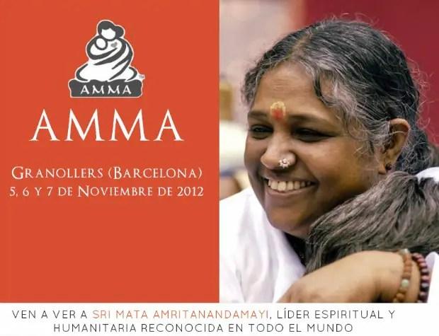 """amma 2012 - AMMA y sus abrazos en Europa 2012: """"El Amor es nuestra verdadera naturaleza"""""""