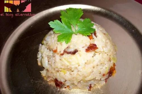 arroz - risotto de tomates secos
