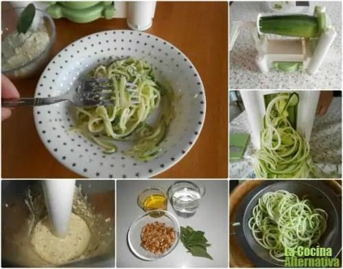calabacin espaguettis - Spirali: aparato para hacer espaguettis de verduras y más