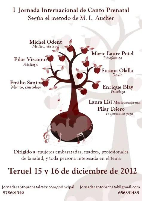 canto prenatal - CANTO PRENATAL: I Jornada Internacional en Teruel