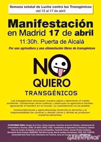 cartel de la manifestaci n con 42 - manifestacion contra transgenicos 2010