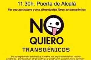 cartel de la manifestaci n con 42 - Semana estatal de Lucha contra los Transgénicos en España 2010