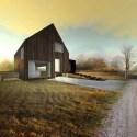 casa madera exterior - Casa rural de madera de bajo consumo