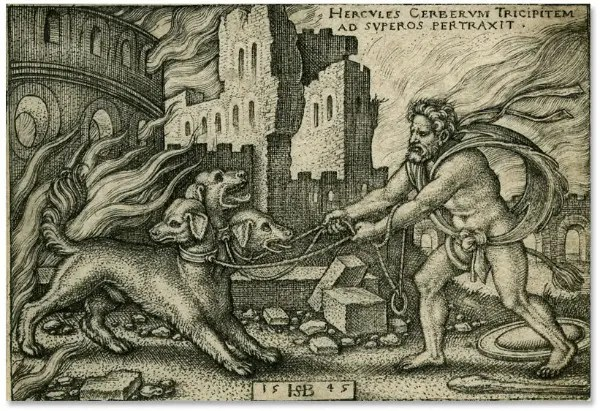 cerbero - 10º trabajo de Hércules: matando a Cerbero, guardián del Hades