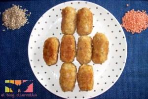 croquetas arroz portada - Croquetas de arroz y lentejas rojas
