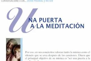 """deva premal - DEVA PREMAL Y MITEN: """"Nuestra música es una puerta a la meditación"""""""