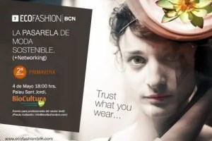 ecofashion - ECOFASHION BCN: la pasarela de moda sostenible  en Barcelona, 4 de mayo 2012
