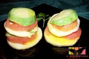 ensalada aguacates - Ensalada de manzana, aguacate y tomate con vinagreta de limón